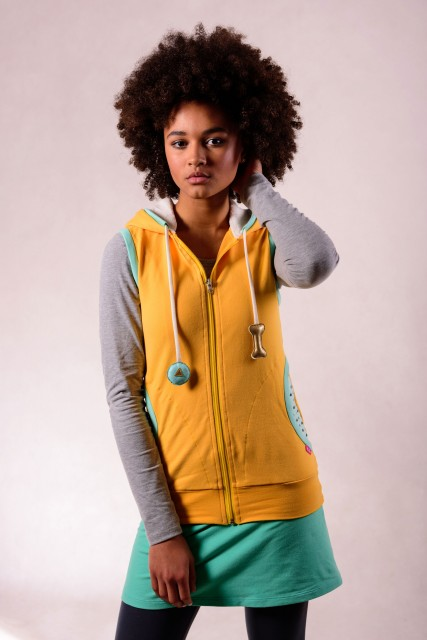 YELLOW GILET - GOLD