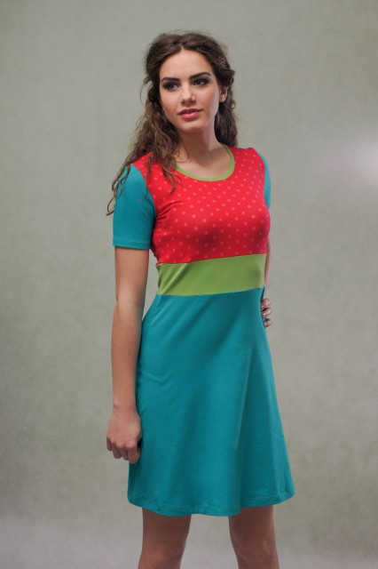 SHORT SLEEVED DRESS - DOT