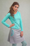 LIGHT GREY SKIRT - AIR