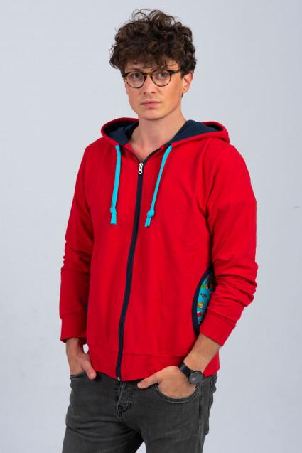 RED MAN ZIP HOODIE - SUSHI
