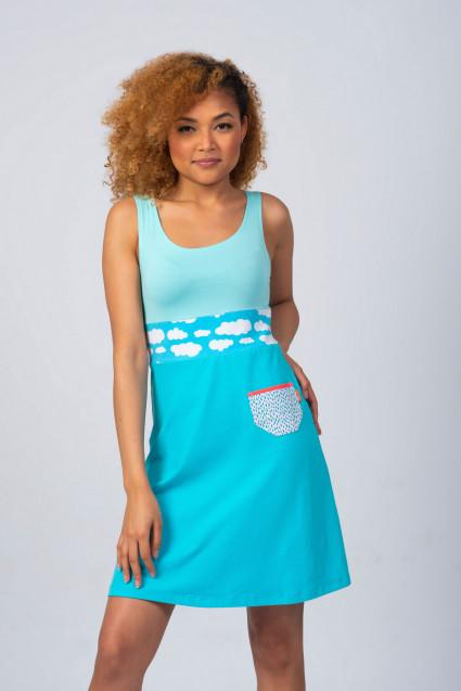 BLUE SUMMER DRESS - CLOUD