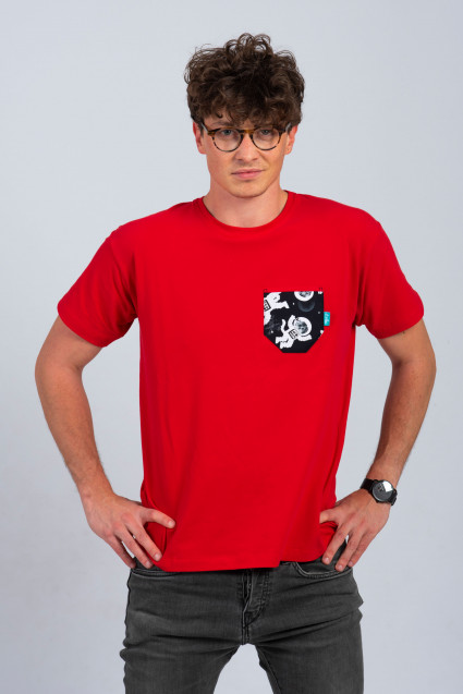 RED MAN T-SHIRT - SPACECAT
