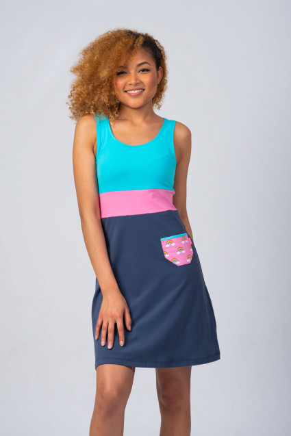 NAVY/BLUE DRESS - RAINBOW