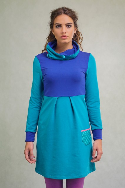HIGH NECK DRESS - PETRA