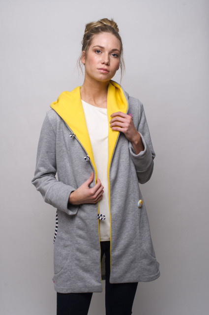 LIGHT GREY COAT - FOX