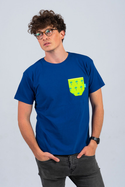 INDIGO MAN T-SHIRT - PALM