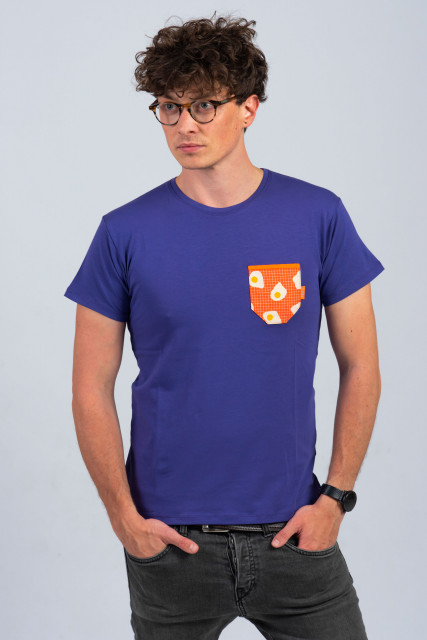 VIOLET MAN T-SHIRT - EGG