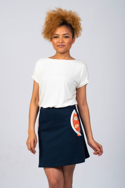 NAVY SKIRT - EGG