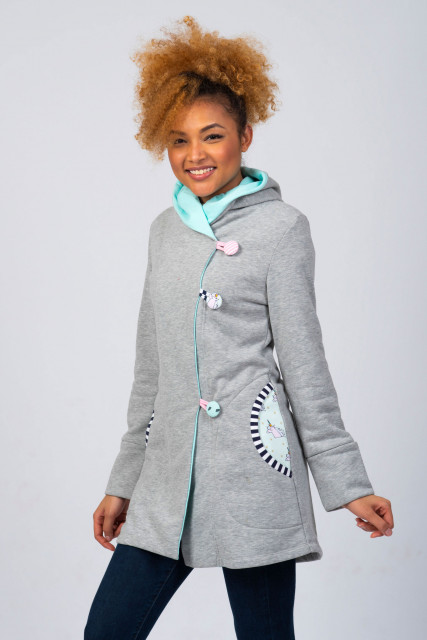LIGHT GREY COAT - UNICORN