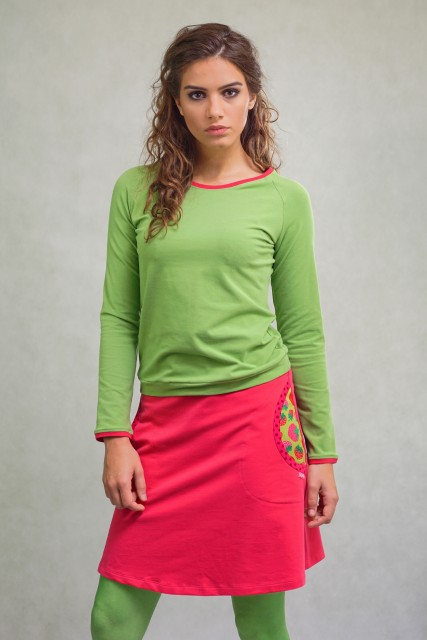FUXIA SKIRT - STROWBERRY