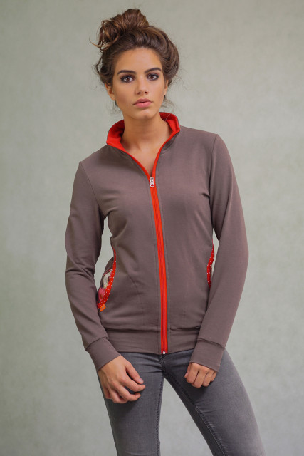 BROWN / RED ZIP - PENGUIN