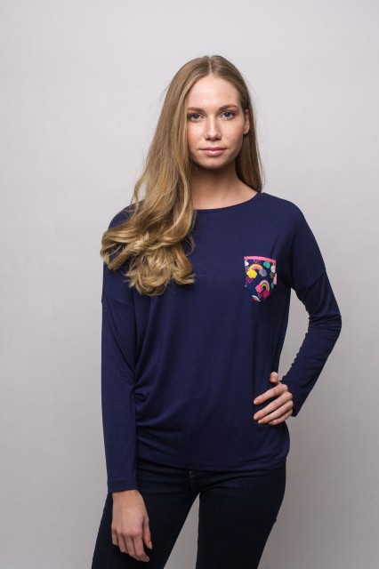 NAVY SHIRT - RAINBOW