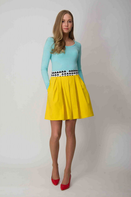 YELLOW SKIRT - OFFICE