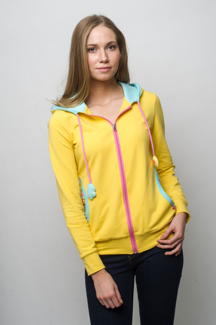 YELLOW ZIP HOODIE - MATRIOSKA