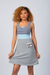GREY/BLUE SUMMER DRESS - SAILOR