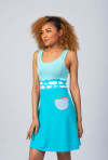 BLUE SUMMER DRESS - CLOUD