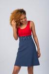 NAVY/RED DRESS - BEACH