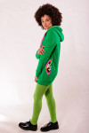 GREEN ZIP HOODIE - PIXEL