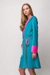 DARK TURQUISE BATHROBE - JOY